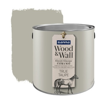 Peinture à la craie Wood&Wall 2,5 L true taupe