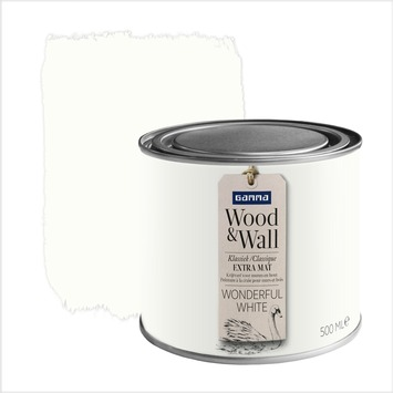 Wood&Wall krijtverf wonderful white 500 ml