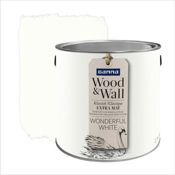 Peinture à la craie Wood&Wall 2,5 L wonderful white
