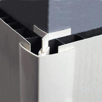Grosfillex binnen-/buitenhoek 5/8 mm wit 260 cm