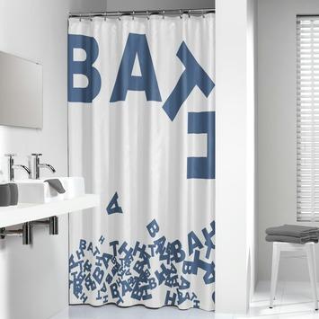 Rideau de douche Sealskin Littera 180x200cm PVC bleu