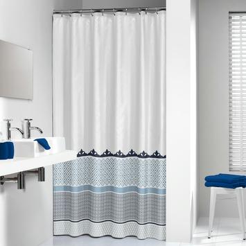 Rideau de douche Marrakech Sealskin polyester 180x200 cm bleu