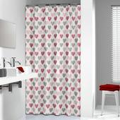 Rideau de douche Amor Sealskin polyester 180x200 cm rouge