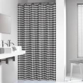 Rideau de douche Seamless Sealskin polyester 180x200 cm noir