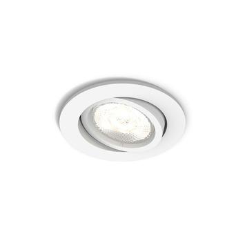 Philips Casement inbouwspot met geïntegreerde LED rond richtbaar 4,5W 500 lumen wit