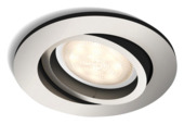Philips Shellbark LED inbouwspot rond 1X4,5W inox