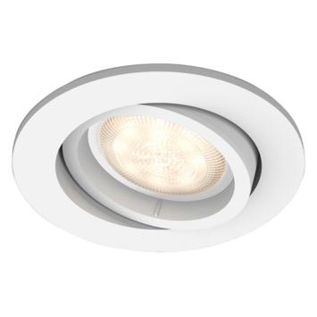 Spot encastrable LED intégrée Philips Shellbark 4,5W 500 lm rond orientable blanc