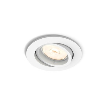 Spot encastrable Philips Enneper excl GU10 rond orientable max. 5,5W blanc