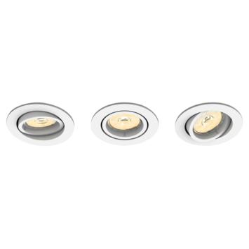 Spot encastrable Philips Enneper excl GU10 rond orientable max. 5,5W blanc 3 pièces