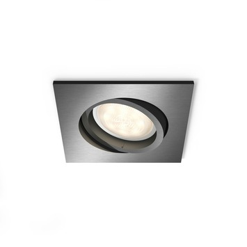 Philips Shellbark LED inbouwspot vierkant 1X4.5W antraciet