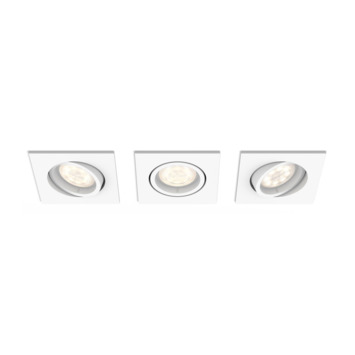 Philips Shellbark LED inbouwspot vierkant 3X4.5W wit
