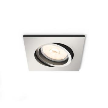 Philips Donegal inbouwspot excl. lampen GU10 vierkant richtbaar max. 5,5W inox