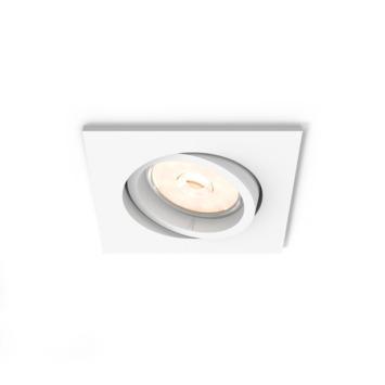 Philips Enneper inbouwspot excl. lamp GU10 vierkant richtbaar max. 5,5 W wit
