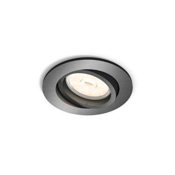 Philips Donegal inbouwspot excl. lamp GU10 rond richtbaar max. 5,5 W grijs