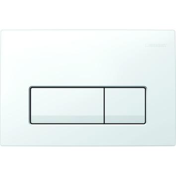 Plaque de commande Delta 51 Geberit blanc pour reservoir Duofix