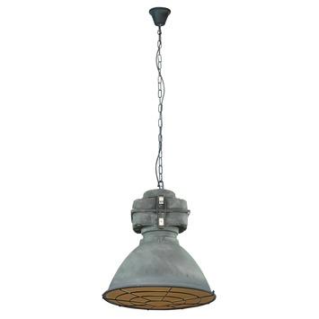 Hanglamp Anouk met grill E27 max. 60 W betongrijs