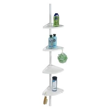 Étagère d'angle pour douche Compact Wenko blanc 79-275 cm