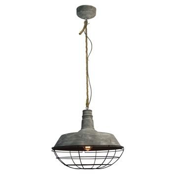 Hanglamp Rope E27 max. 60 W betongrijs