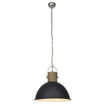Hanglamp Frieda E27 max. 60 W zwart/hout