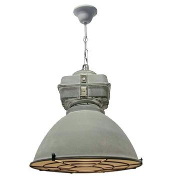 Hanglamp Anouk met grill small E27 max. 60 W betongrijs