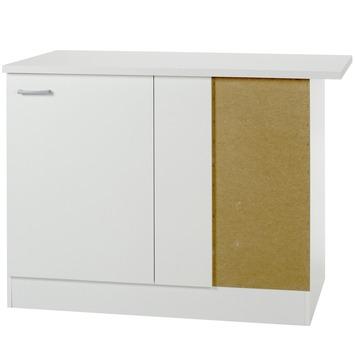 Optifit Klassik60 hoekonderkast met 1 deur 84,5x110(kast 100)x60 cm met werkblad
