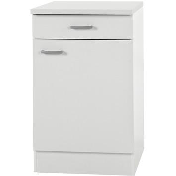Élément bas 1 porte 1 tiroir Optifit Klassik60 84,8x50x60cm avec plan de travail