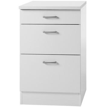 Élément bas 3 tiroirs Optifit Klassik60 84,5x50x60cm avec plan de travail