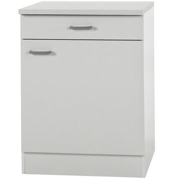Élément bas 1 porte 1 tiroir Optifit Klassik60 84,8x60x60cm avec plan de travail
