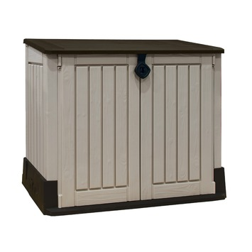 Coffre de rangement extérieur multifonctions Keter Store it Out Midi beige 130x74x110 cm