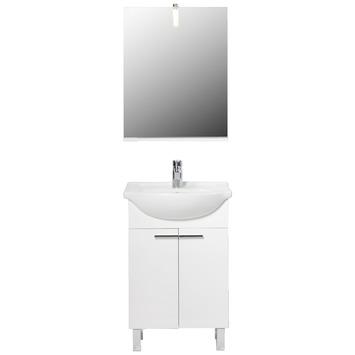 Meuble de salle de bains Amy Handson 55 cm blanc