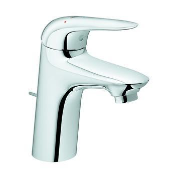 Mitigeur de lavabo Wave Grohe avec vidage automatique chromé