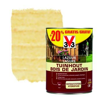 V33 beits tuinhout mat kleurloos 2,5 + 20%