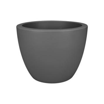 Pot à fleurs Pure soft 50 cm anthracite sur roulettes