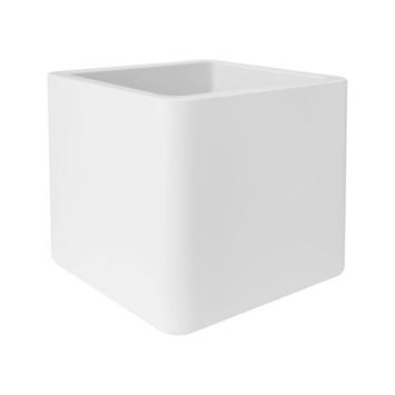 Pot de fleurs Pure soft brick 40 cm blanc