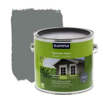 GAMMA beits tuinhuis kleur zijdeglans graniet grijs 2,5 L