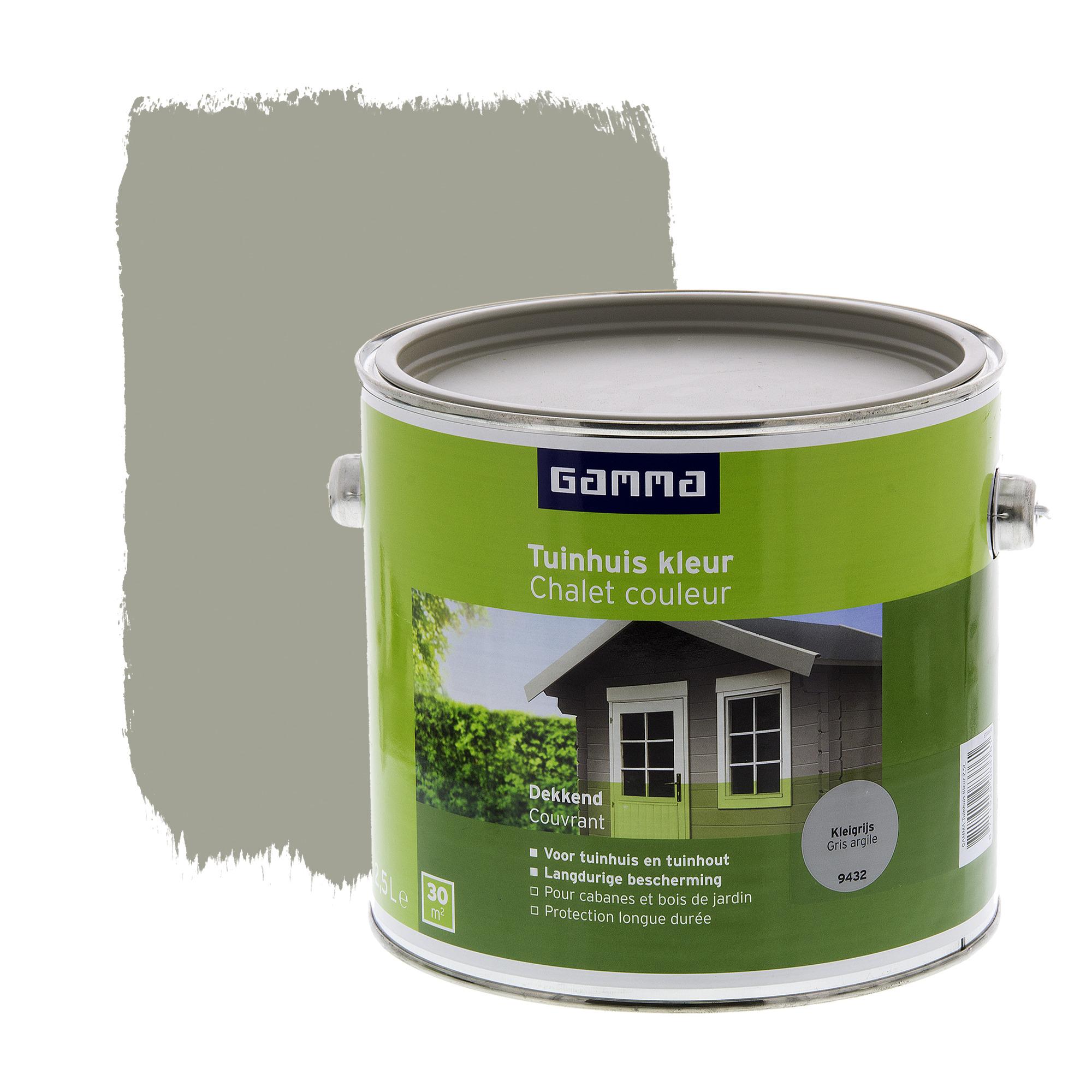lasure chalet couleur gamma satin gris argile 2 5 l vernis huiles lasures papier peint. Black Bedroom Furniture Sets. Home Design Ideas