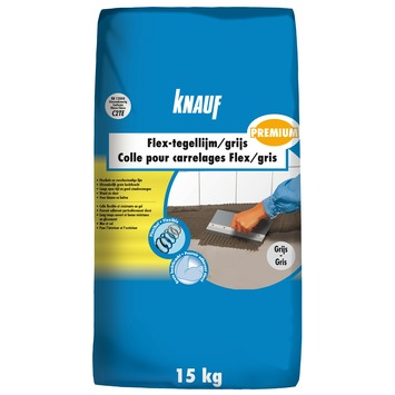 Colle carrelages Flex Knauf premium 15 kg gris
