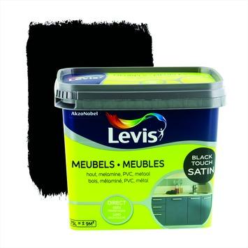 Levis opfrisverf meubels zijdeglans zwart 750 ml
