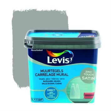 Levis opfrisverf muurtegels zijdeglans zink 750 ml