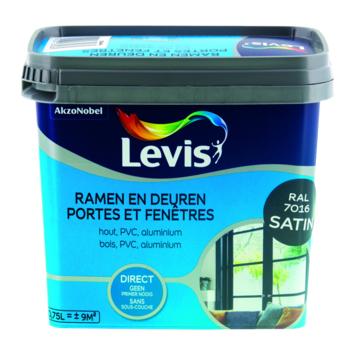 Levis opfrisverf ramen en deuren zijdeglans antraciet 750 ml