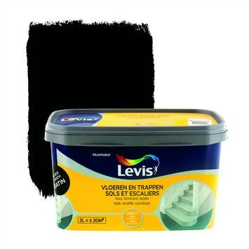 Levis opfrisverf vloeren en trappen zijdeglans zwart 2 L