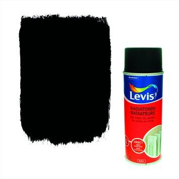 Levis opfrisverf radiator zijdeglans black 400 ml