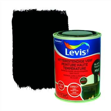 Levis opfrisverf hittebestendige verf mat zwart 250 ml