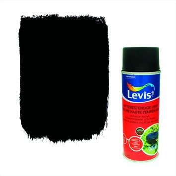 Levis opfrisverf hittebestendige verf zijdeglans zwart 400 ml