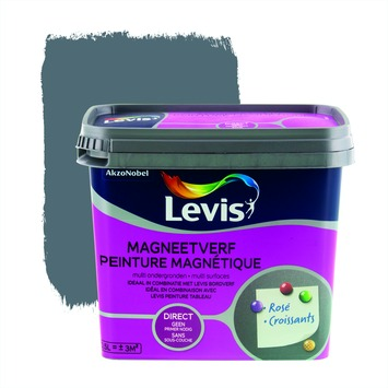 Levis opfrisverf magneetverf mat grijs 500 ml