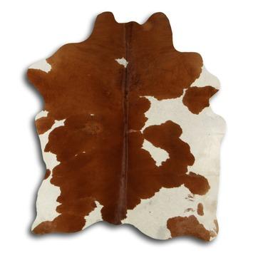 Peau de vache brun/blanc 180x200 cm