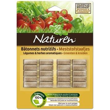 Bâtonnets d'engrais pour légumes et herbes 40 pcs Naturen
