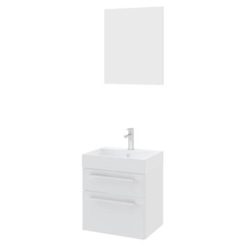 Set de meuble de salle de bains Zelda Bruynzeel avec miroir 50 cm blanc