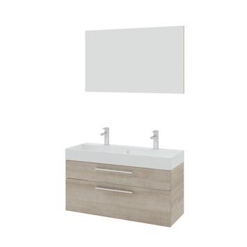set de meuble de salle de bains zelda bruynzeel avec miroir 100 cm chne clair