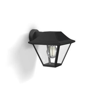 Philips wandlamp Alpenglow exclusief lamp E27 max. 60 W zwart